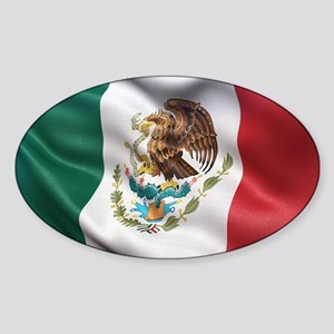 Mexico flag Sticker (Oval)