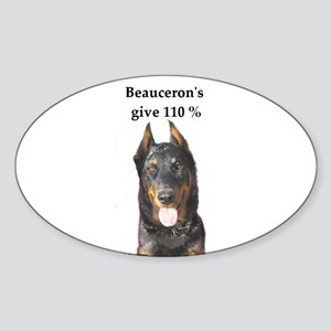 Beaucerons 110% Oval Sticker
