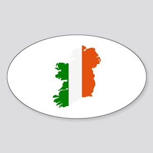 Ireland map Sticker (Oval)