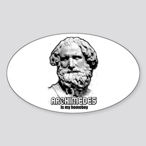 Archimedes Oval Sticker