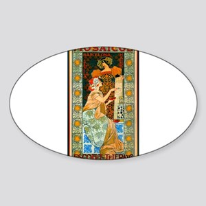 ART NOUVEAU Sticker (Oval)