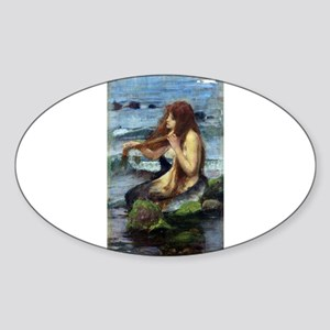 A Mermaid (study) Sticker (Oval)