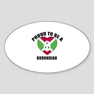 Burundian Patriotic Designs Sticker (Oval)