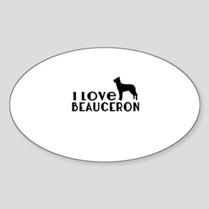 I Love Beauceron Sticker (Oval)