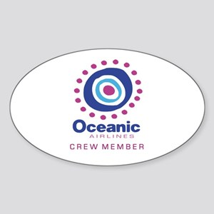 'Oceanic Airlines Crew' Sticker (Oval)