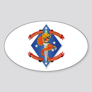 1st Bn - 4th Marines Sticker (Oval)