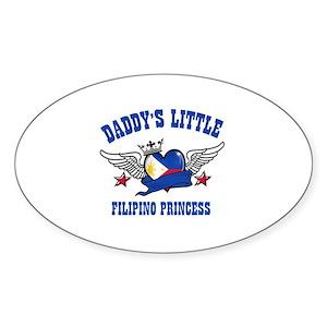 Daddy's Little Filipino Princess Sticker (Oval)