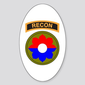 9th Infantry Division with Recon Tab Sticker (Oval