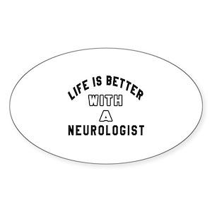 Neurologist Designs Sticker (Oval)