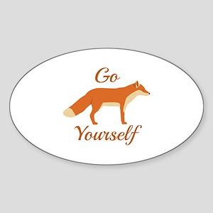 Go Fox Yourself Stickers - CafePress
