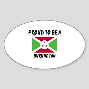 Proud To Be Burudian Sticker (Oval)