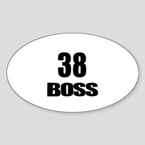 38 Boss Birthday Designs Sticker (Oval)