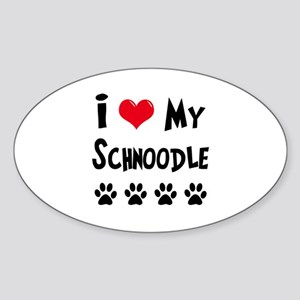 Schnoodle Sticker (Oval)