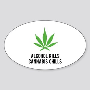 Cannabis Chills Sticker (Oval)