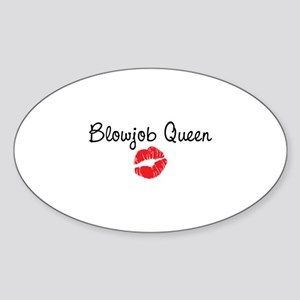 Blowjob Queen Sticker (Oval)