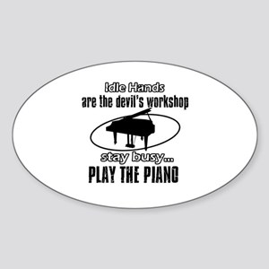 Play the piano Sticker (Oval)