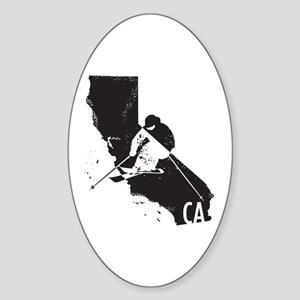 Ski California Sticker (Oval)