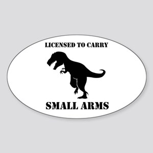 87dd41079 Licensed To Carry Small Arms T-Rex Dinosaur Sticke