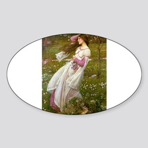 Windflowers Sticker (Oval)