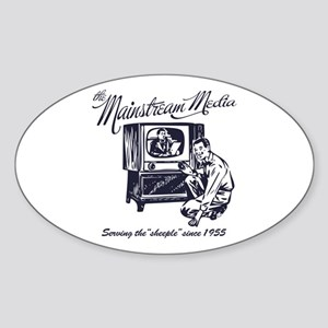 The Mainstream Media Oval Sticker