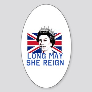 Queen Elizabeth II:  Long May She R Sticker (Oval)