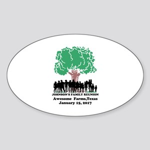 Reunion Personalized Sticker (Oval)