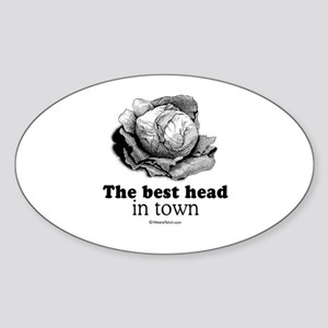 The best head in town - Oval Sticker