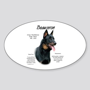 Beauceron Sticker (Oval)