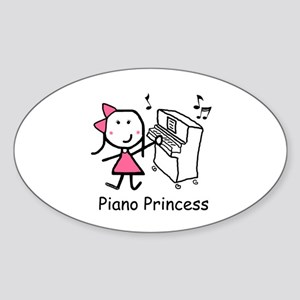Piano - Princess Sticker (Oval)