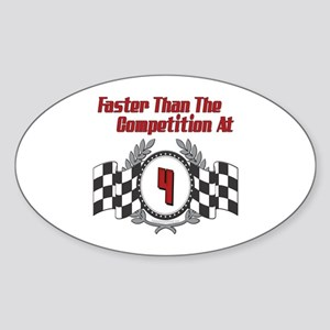 Racing At 4 Oval Sticker