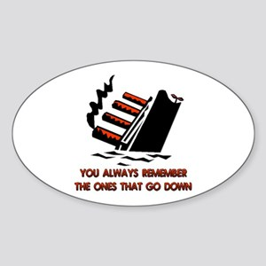 Titanic Oval Sticker