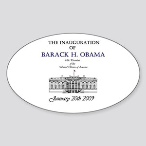 Obama Inauguration Oval Sticker