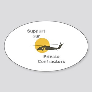 Support our Private Contractors Oval Sticker