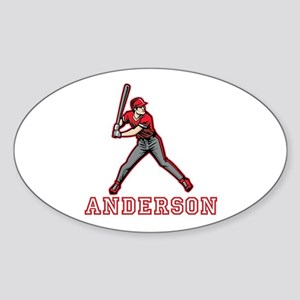 Personalized Baseball Sticker (Oval)