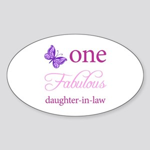 One Fabulous Daughter-In-Law Sticker (Oval)