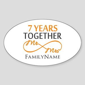 7th anniversary Sticker (Oval)