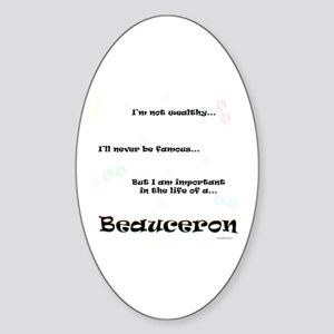 Beauceron Life Oval Sticker