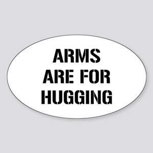 Arms Hugging Sticker (Oval)