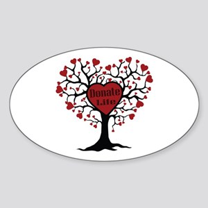 Donate Life Tree Sticker (Oval)