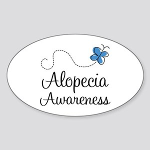 Alopecia Awareness blue butterfly Sticker