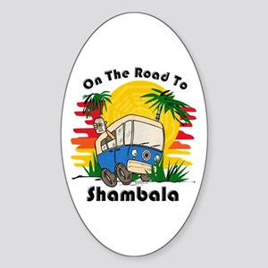 Road To Shambala Sticker (Oval)