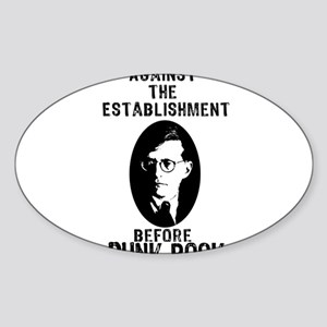 Shosty Anti Establishment Sticker (Oval)