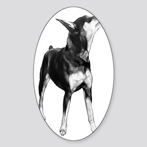Miniature Pinscher Sketch Sticker (Oval)