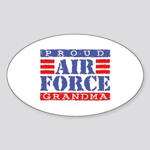Proud Air Force Grandma Oval Sticker
