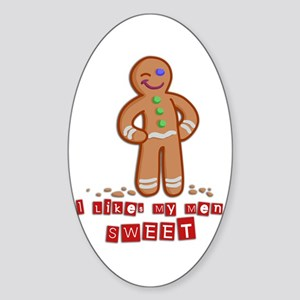 Ginger Guy Oval Sticker