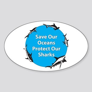 Save Our Oceans. Protect Our Oval Sticker