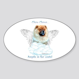 Chow 3 Oval Sticker