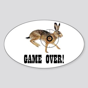 game over! Oval Sticker