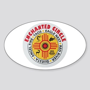 New Mexico's Enchanted Circle Oval Sticker