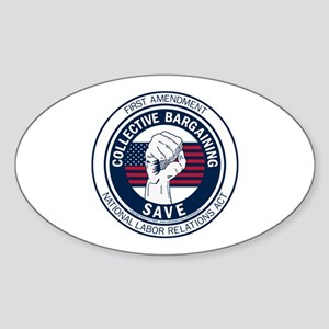 Save Collective Bargaining Sticker (Oval)